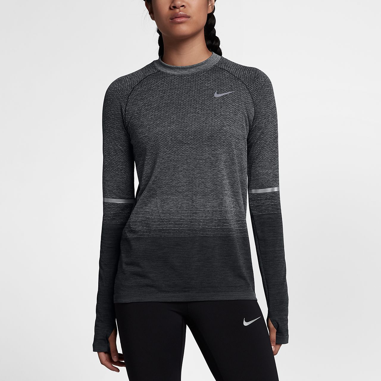 535ef297d28c53 Nike Dri-FIT Knit Women's Long Sleeve Running Top - small | Golf ...