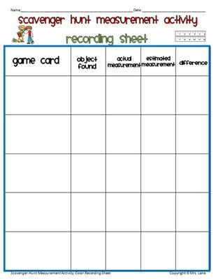 Scavenger Hunt Measurement Activity (customary And Metric Units Metric Measurement Scavenger Hunt Scavenger Hunt Measurement Activity (customary And Metric Units) From Mrs Lane On Teachersnotebook Com (21 Pages)