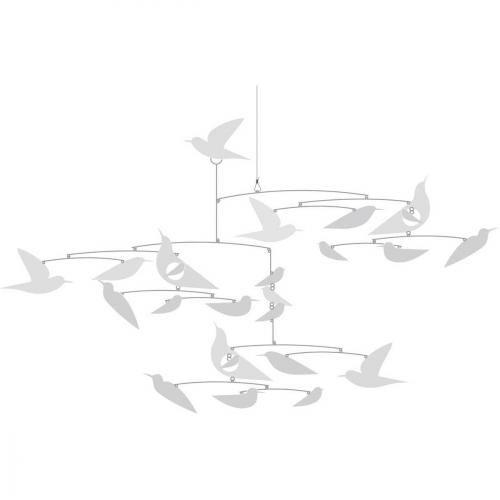 Mobile Mobile papier Oiseaux Blancs - Fleur Mobile papier Oiseaux Blancs - Fleur