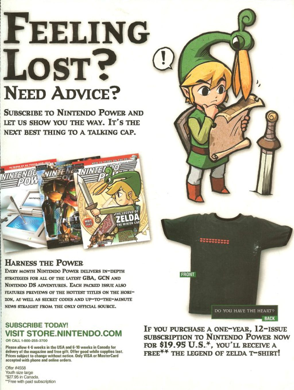 Game Boy Advance Nintendo Power Ad (in The Legend of