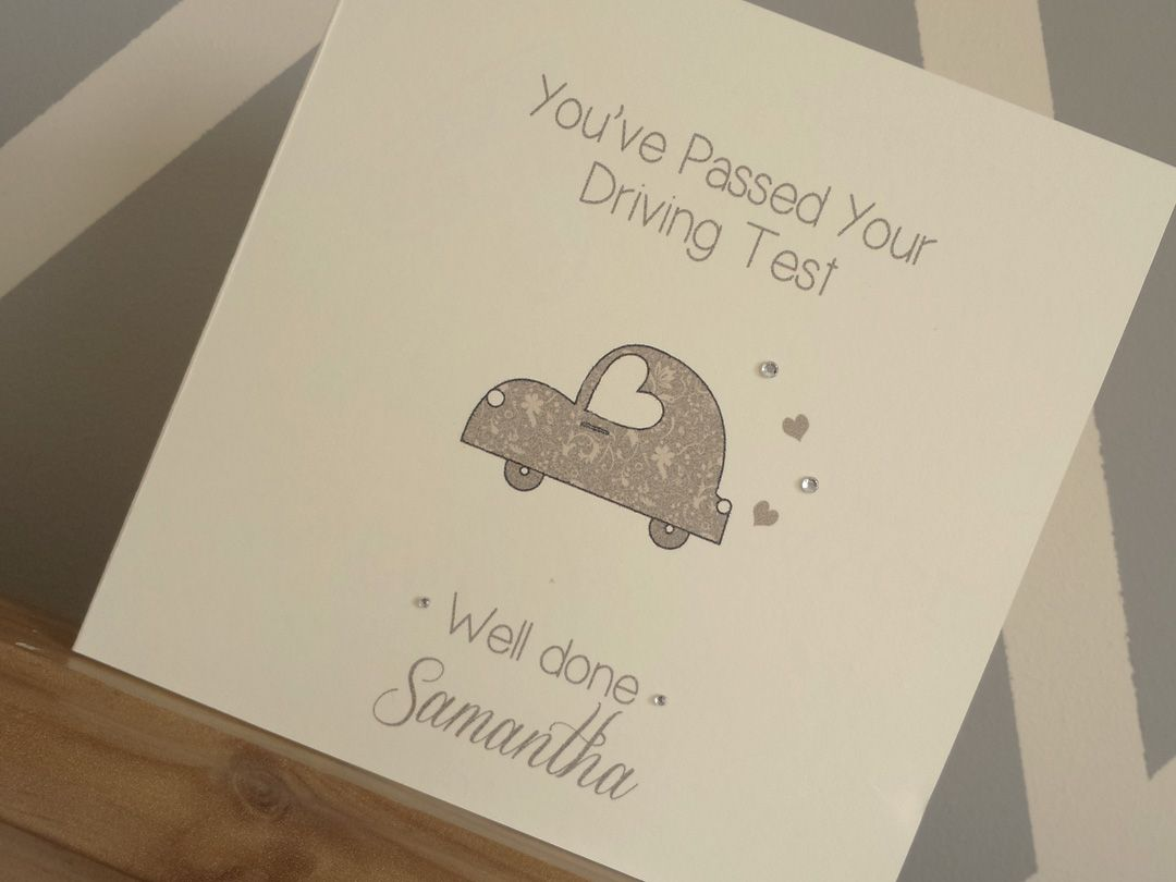 Personalised youve passed your driving test greeting card personalised youve passed your driving test greeting card embellished with clear crystal gems 399 rijbewijs pinterest driving test and cards kristyandbryce Image collections