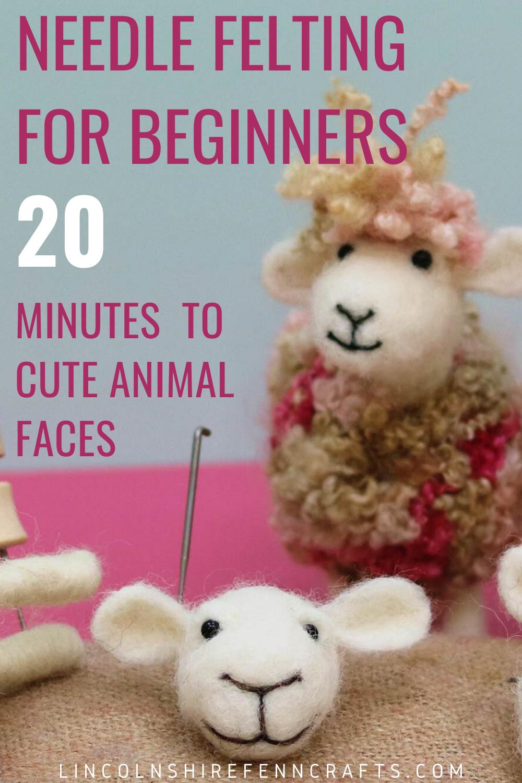 How to needle felt cute animal faces