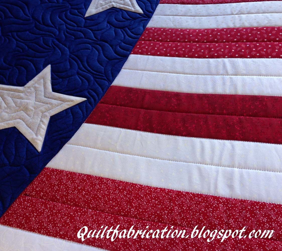 Patriotic Wave Table Runner quilting