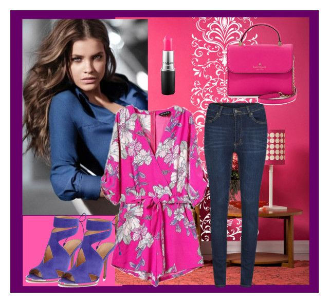 """""""pink & purple"""" by rabiahk on Polyvore featuring Cheap Monday, Kate Spade, ALEXA WAGNER, MAC Cosmetics, women's clothing, women, female, woman, misses and juniors"""