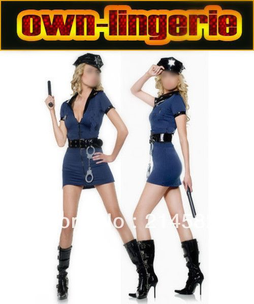 Click To Buy Blue Sexy Adult Women Police Costume Plus Size