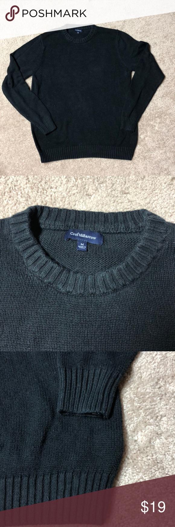 Men S Croft Barrow Crewneck Sweater Men S Thick Black Crewneck Sweater Gently Used Men S Size Medium Croft Sweaters Crew Neck Sweater Clothes Design [ 1740 x 580 Pixel ]
