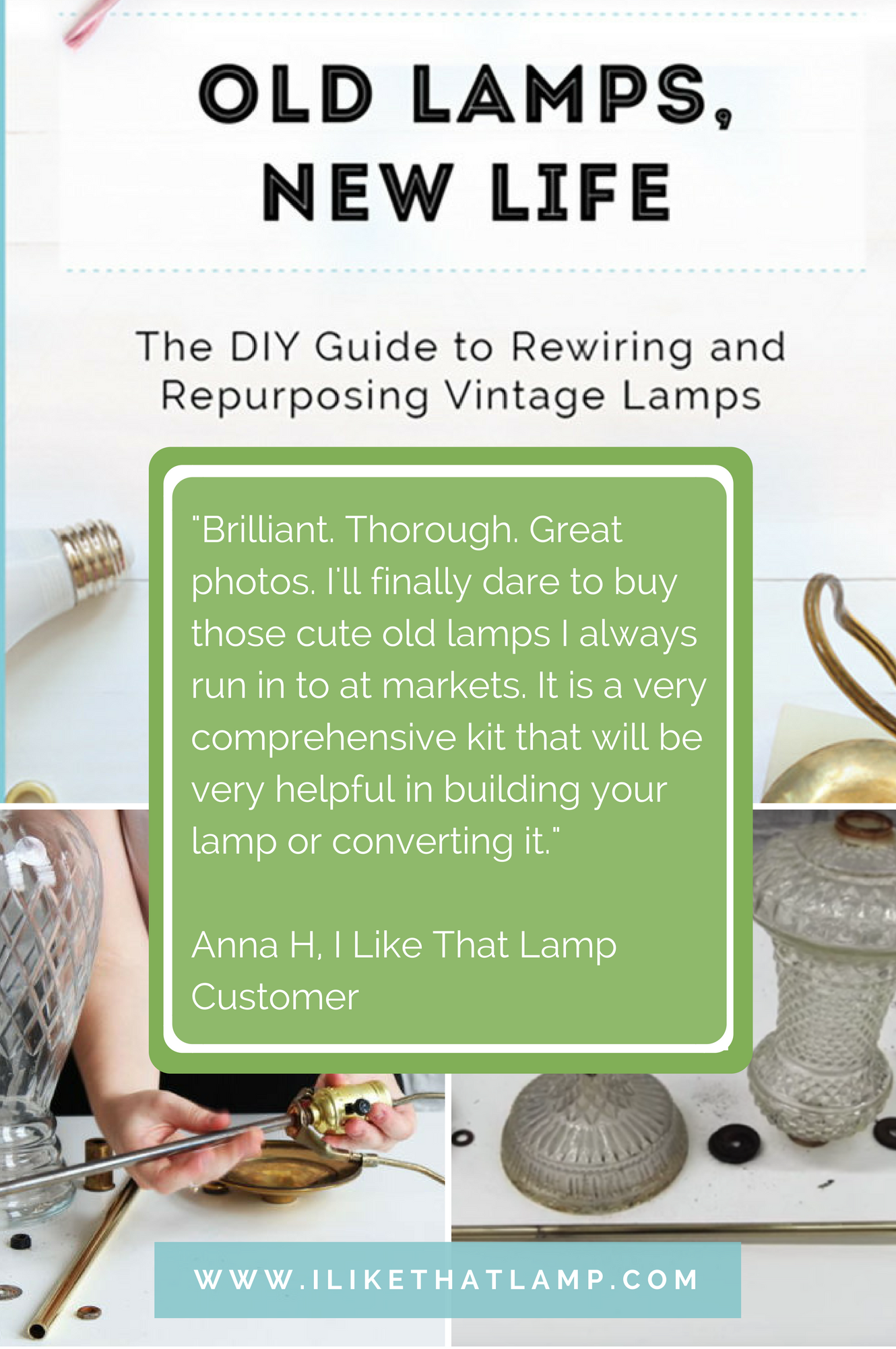 This Step By Diy Guide Will Make It Easy To Give Your Old Lamps How Rewire An Lamp Comprehensive E Book New Life