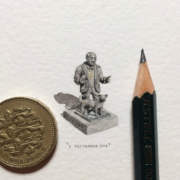 Artist Creates Miniature Paintings Everyday for an Entire Year