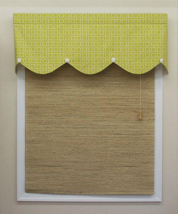 Chartreuse Geometric Cotton Valance By CurtainsBlindsBath