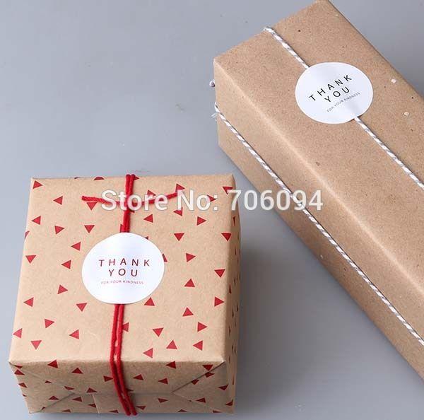 "Cake Box Decoration Glamorous 960Pcslot""thank You"" Round Sealing Sticker Baking Package Decorating Inspiration"