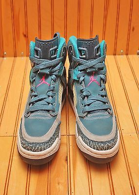 4f8d720e57b Nike Air Jordan Spizike Size 4.5Y - Space Blue Wolf Grey Pink - 317321 407