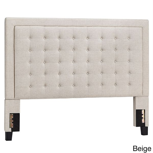 INSPIRE Q Bellevista Button-tufted Square King Upholstered Headboard ...