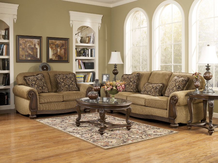 Rana Furniture Living Room : Lynnwood Amber Sofa & Loveseat #sofa #loveseat #livingroom ...