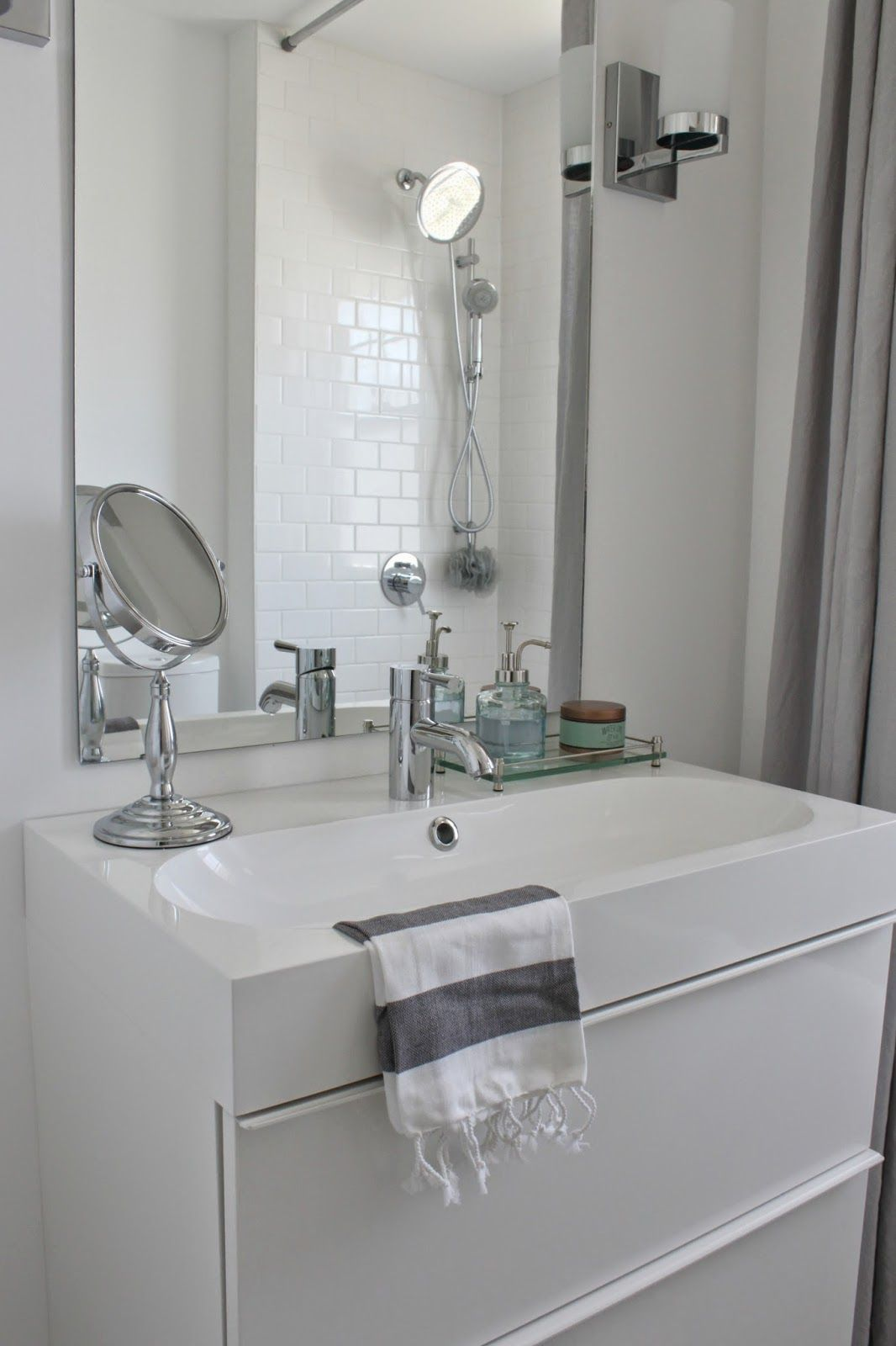 modern bathroom renovation marble hexagon and white 13212