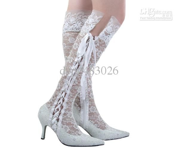Whole Heel Shoes News Fasion Boots High Pointy Toe Lace