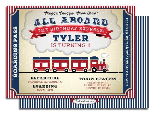 Printable train birthday party invitation jrs 2nd birthday printable train birthday party invitation filmwisefo