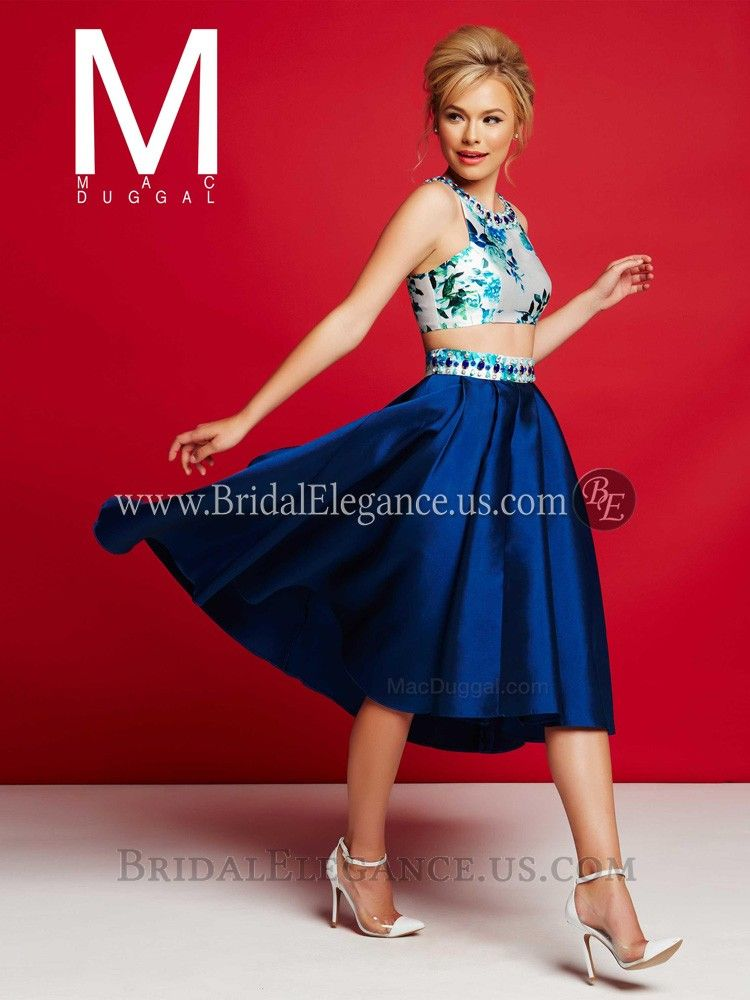 Floral Crop Top & High Low Skirt 30238 | Prom Dresses | Bridal ...