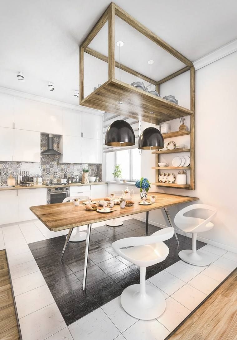 Déco cuisine blanche scandinave de rêve  Décoration cuisine