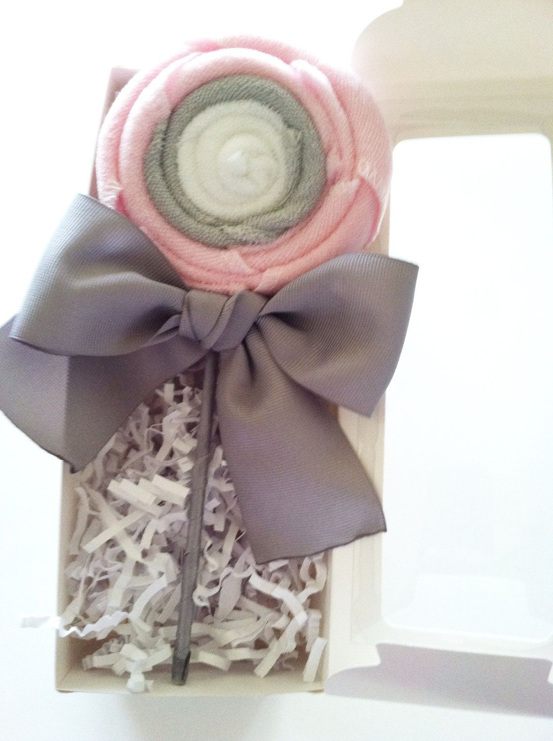 Gray Youth Group Rooms: Pink & Gray Lollipop Baby Gift Set Baby Shower Gifts Baby