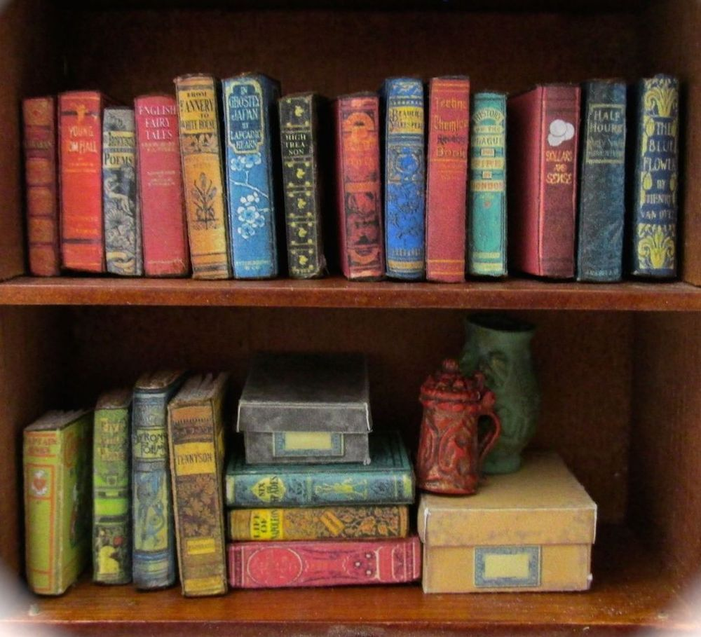 21 DUSTY OLD BOOKS Miniature Dollhouse 1:12 Scale FILL A Bookshelf PROP Books #2 #LittleTHINGSofInterest