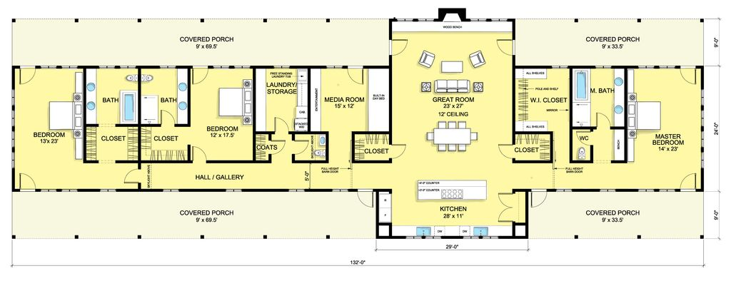 6 bedroom house floor plan - 6 Bedroom House Plans