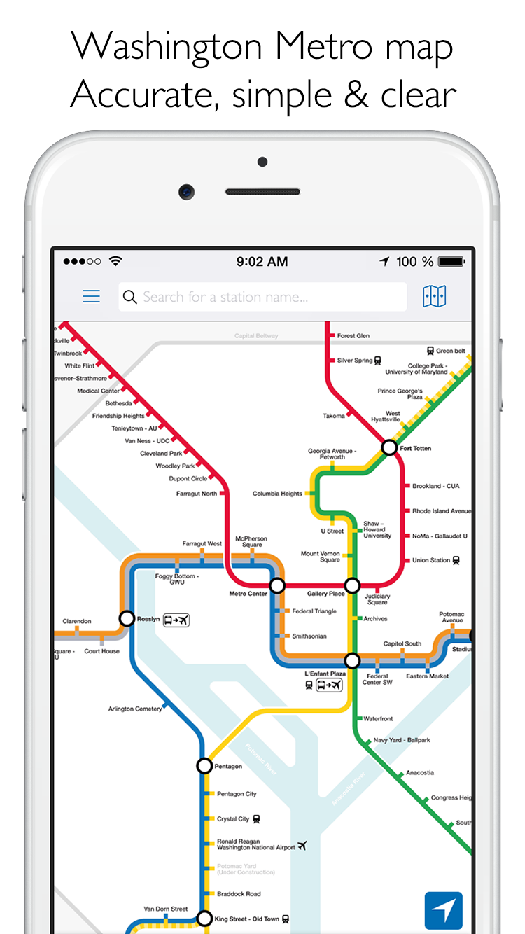 The Washington Metro map & route planner for iOS With an original