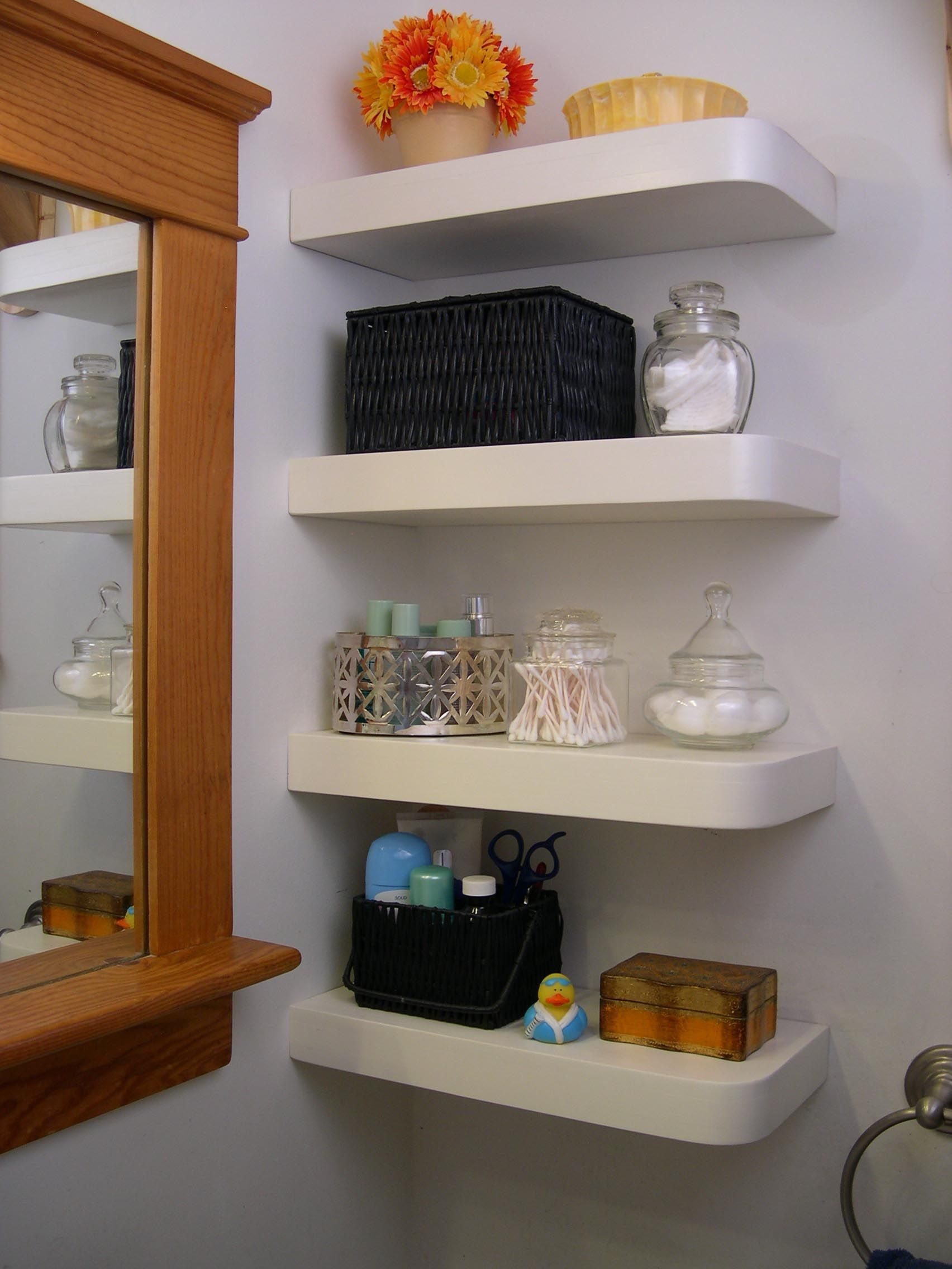 Floating Corner Wall Shelves Shelves Pinterest