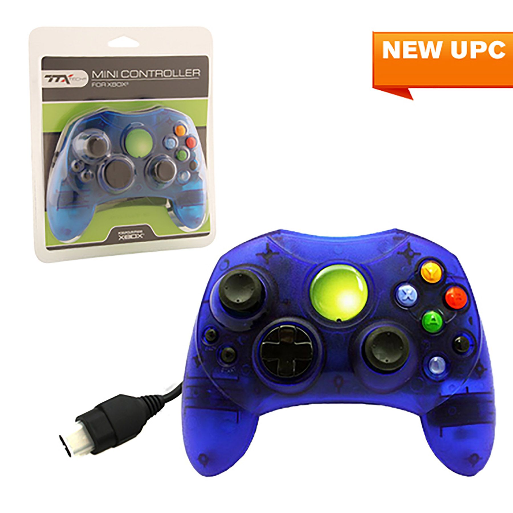 Clear blue wired controller for xbox ttx tech https