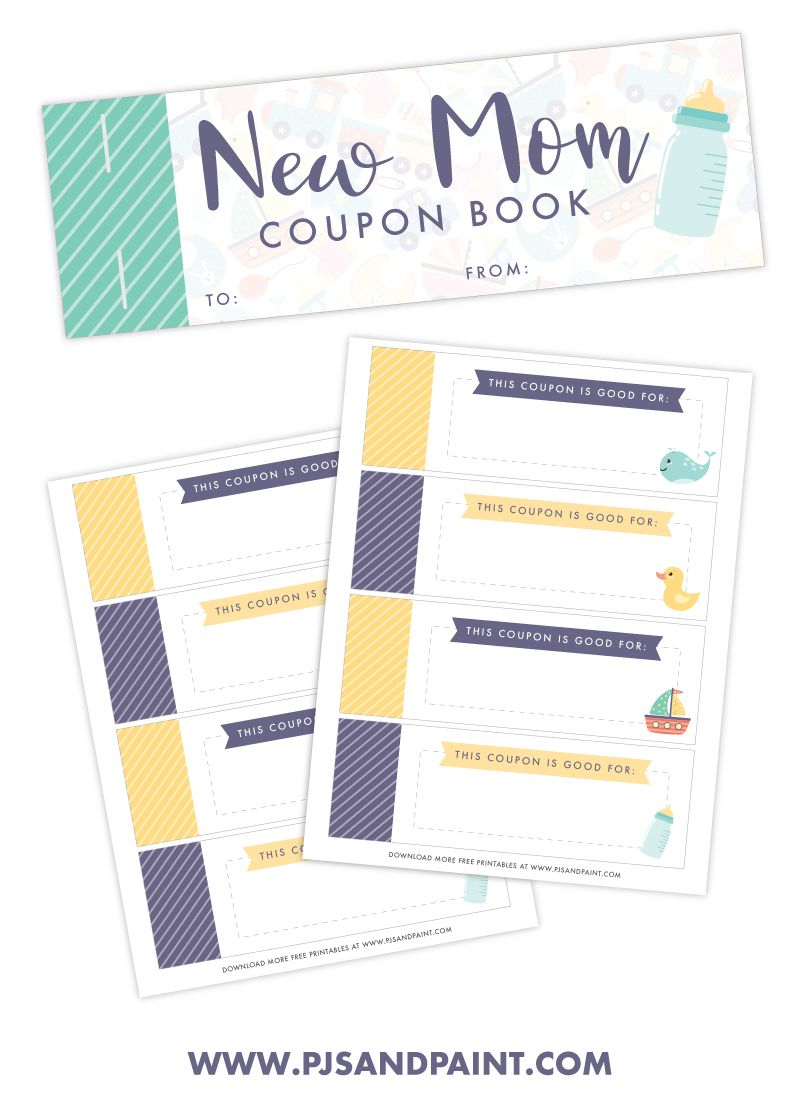 Free Printable New Mom Coupon Book Printable Baby Shower Gift In 2020 Mom Coupon Book Mom Coupons Coupon Book
