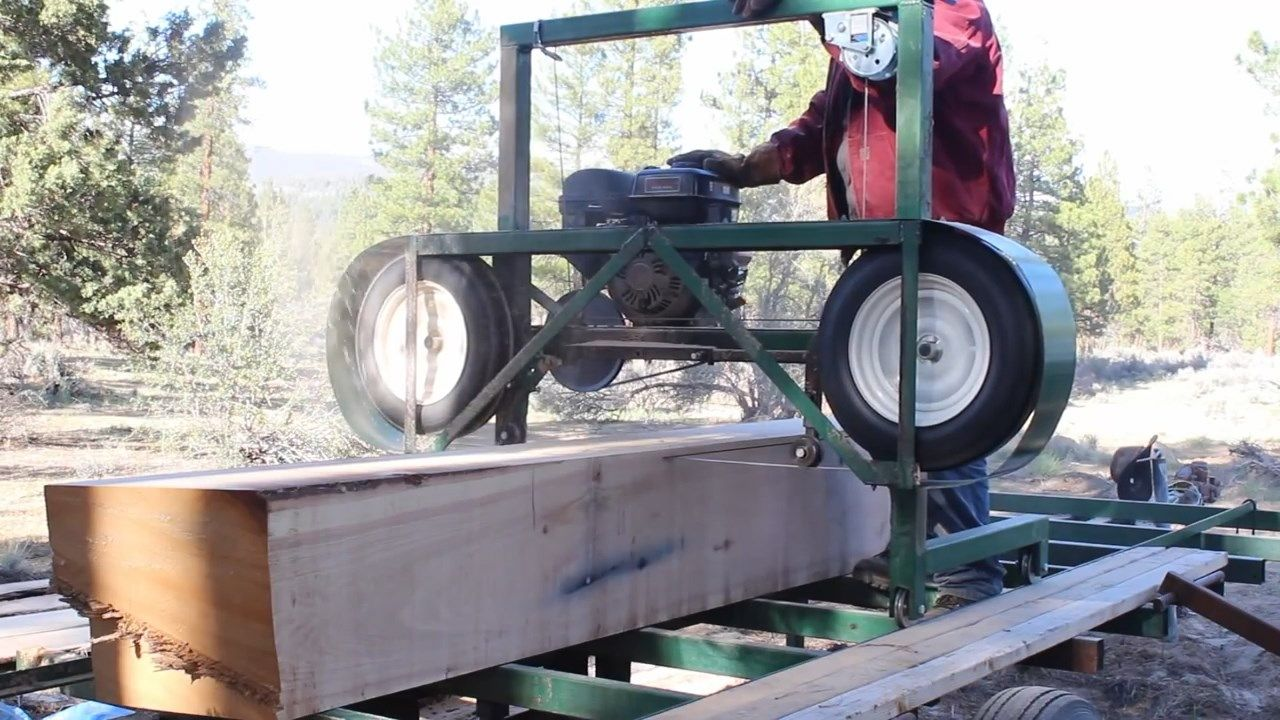 How to build a Homemade Portable Sawmill from Start to