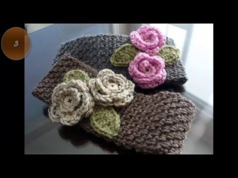 Diademas o vinchas de ganchillo con patrones. Crochet headbands or ...