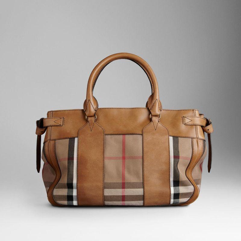 Gread AAA 38063581 MEDIUM HOUSE CHECK CANVAS TOTE  10465    Cheap Fake  Replica Handbags   Bags Uk c9495bce92ade