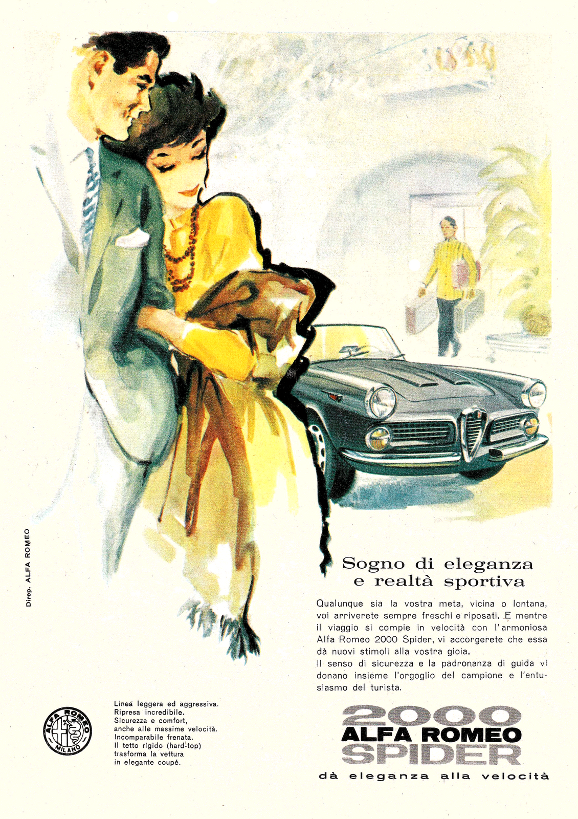 Sketchbook historic cars Pictures: ALFA ROMEO 2000 Spider -  Made in Japan
