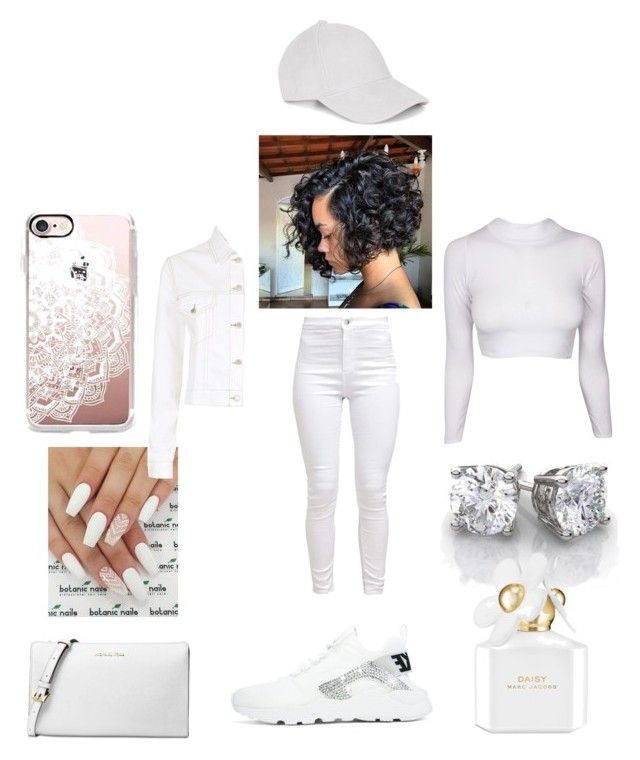"""winter white❄⛄"" by pinkpanther2318 ❤ liked on Polyvore featuring Michael Kors, Maje, Marc Jacobs and Casetify"