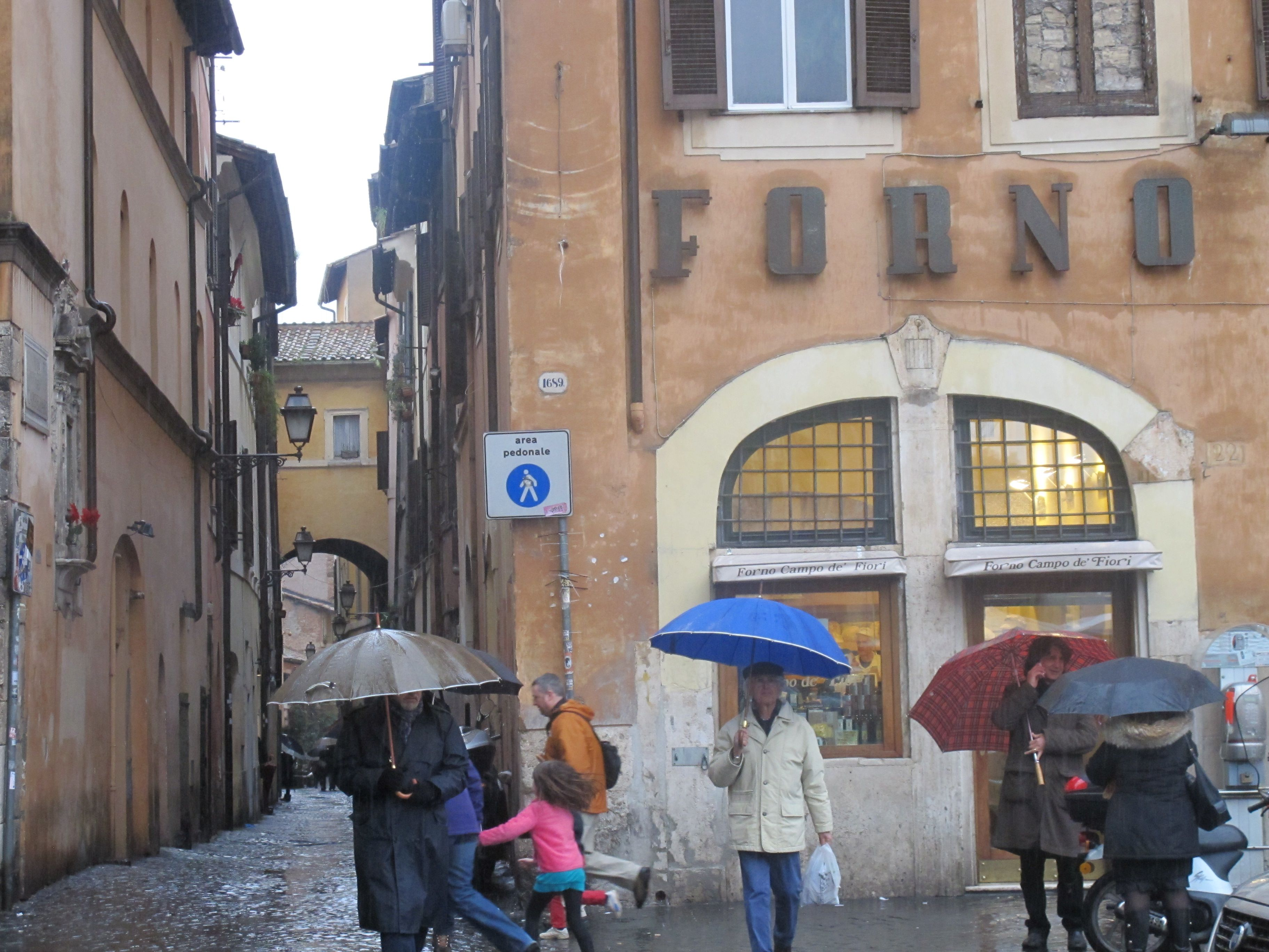 A famous bakery at one end of Campo de' Fiori with ...