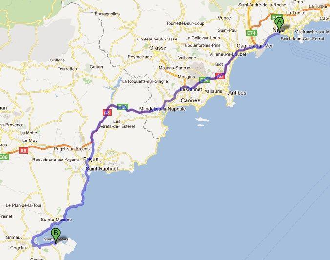 St Raphael France Map.Nice To St Tropez Map France 2015 Pinterest Nice France