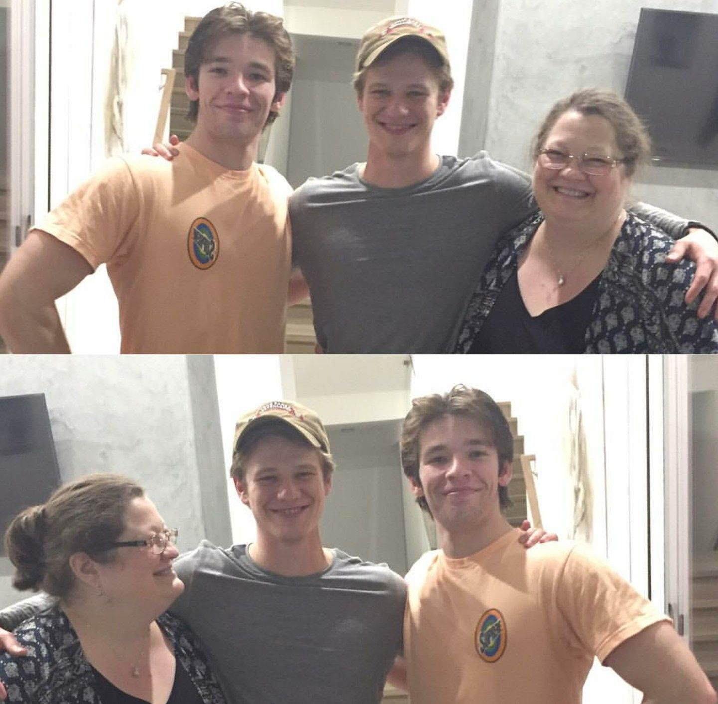 Lucas Till, His Brother Nick Till, And Their Mother Dana