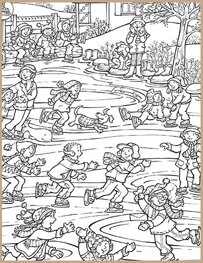 first day of winter hidden picture puzzles hidden object puzzles printable activities for kids