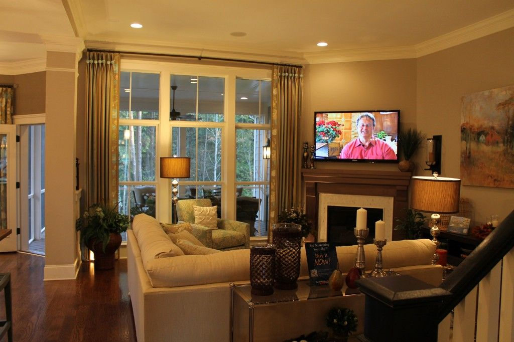 Corner Fireplace With Tv Hung Above Living Room Furniture Layout Small Living Room Layout Livingroom Layout