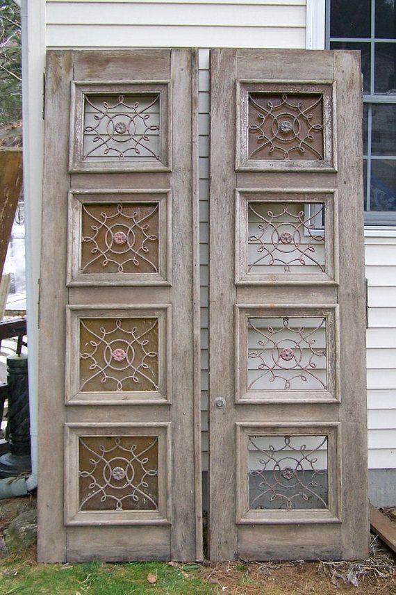 Antique Mediterranean Wood Doors With Iron Panels European Doors Decorative Wood Doors Two Panel Door Carved Wood Door O European Doors Wood Doors Doors Galore