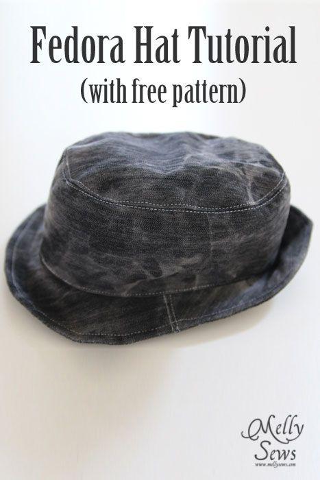 Fedora Hat Tutorial and Pattern | Hüte, Mütze und Nähen