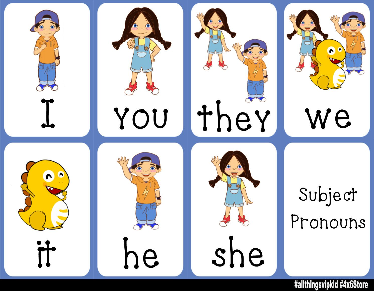 Vipkid Pronoun And Possessive Adjective Charts