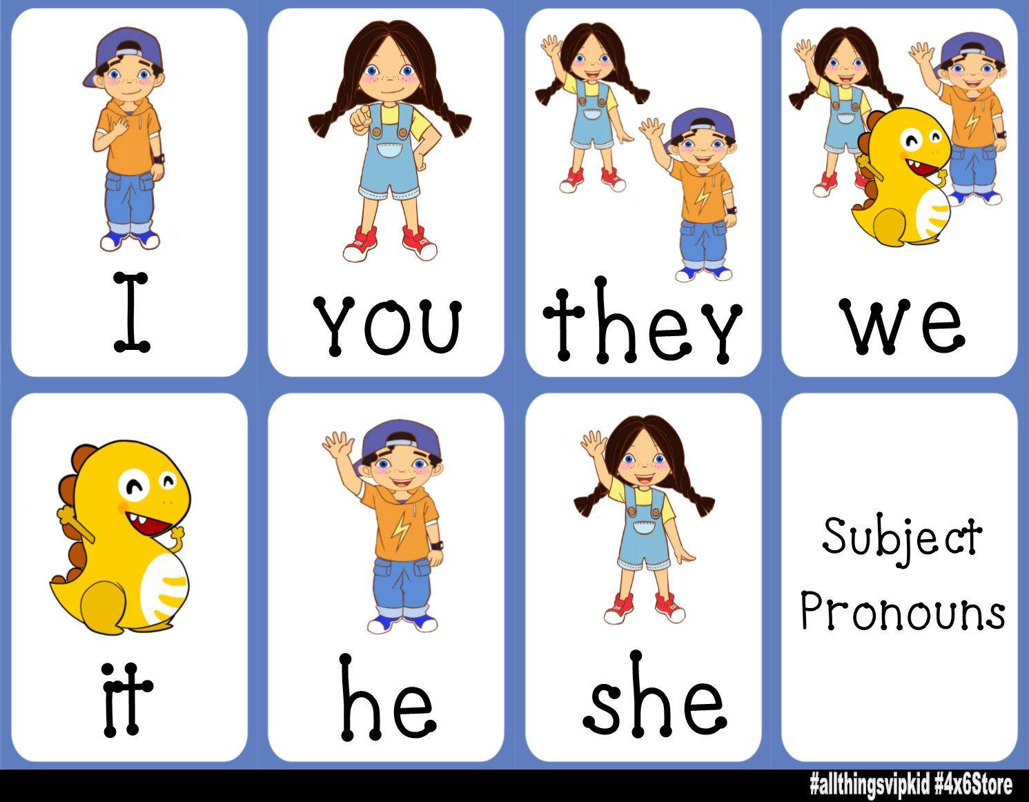 Vipkid Pronoun And Possessive Adjective Charts
