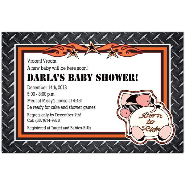 Harley Baby Shower Invite