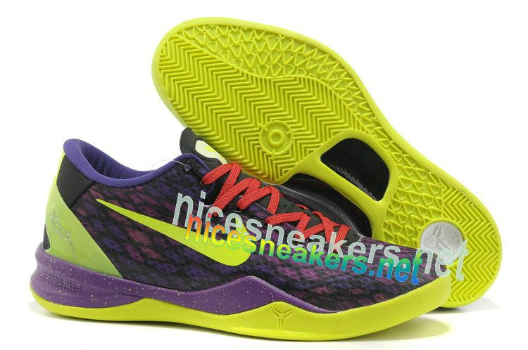 detailed look 4bb3e 5efae Nike Zoom Kobe 8 VIII Purple Green Mens Basketball Shoes  Purple  Womens   Sneakers