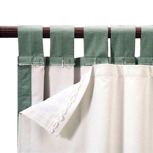 Roc Lon Blackout Energy Efficient Curtain Panel Liner, Clips Onto Almost  Any Curtain And