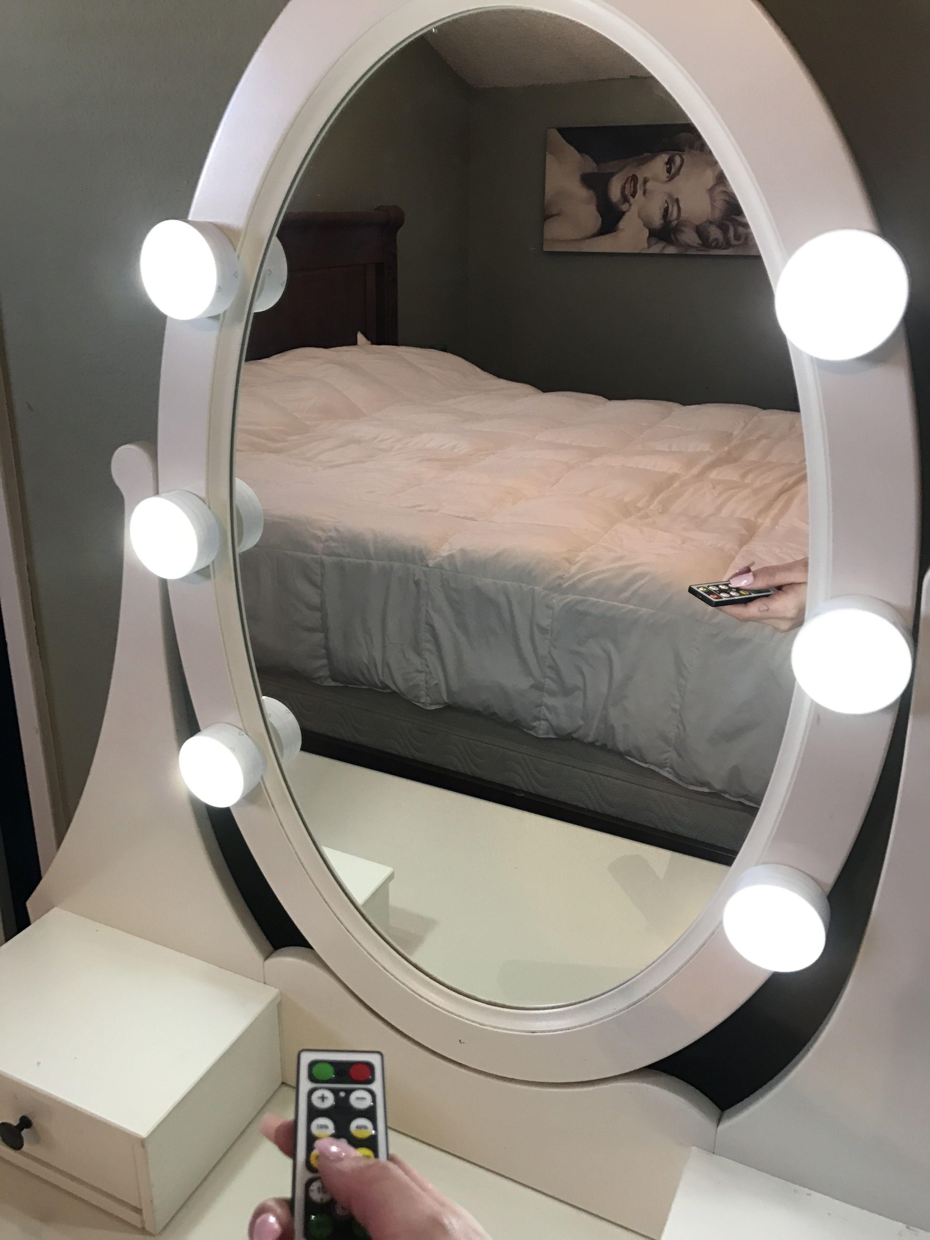 makeup vanity with led lights. diy super easy remote controlled led vanity lights makeup with led