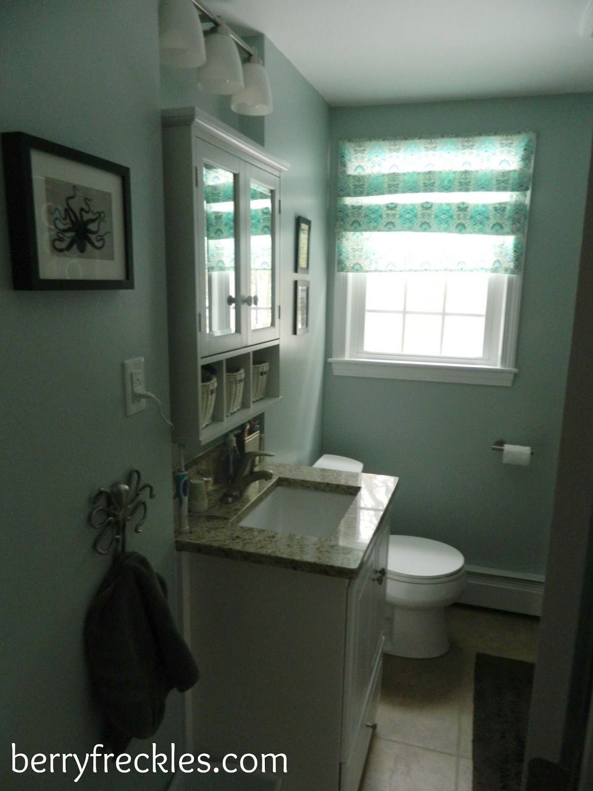 Finished Bathroom {Berry Freckles}