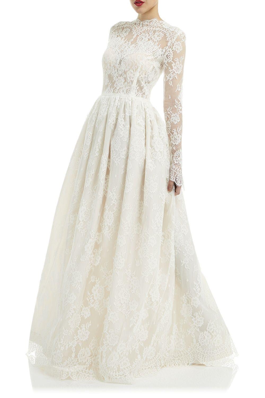 Katya katya shehurina elizabeth long sleeve boho style ivory lace
