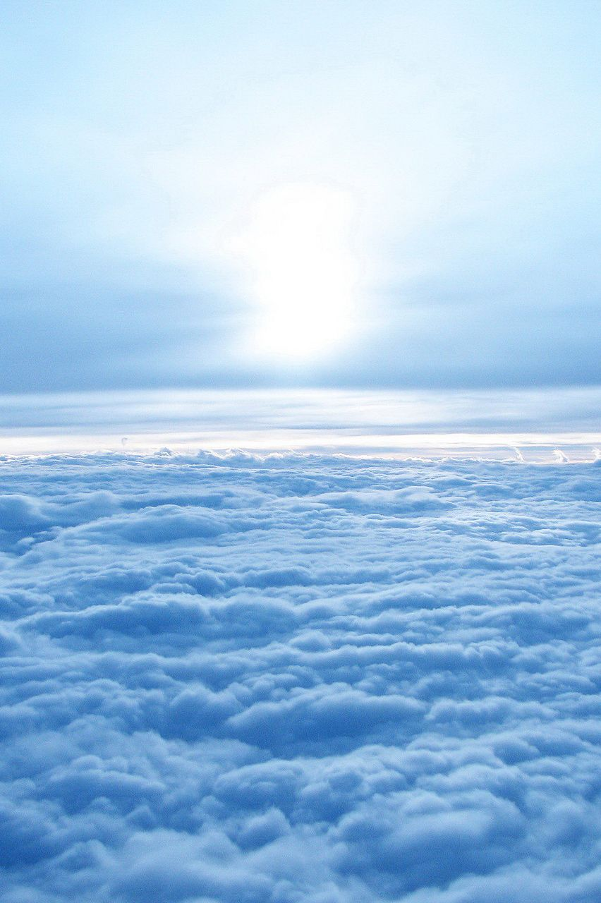 Sea Of Clouds Blue Sky Wallpaper Light Blue Aesthetic Blue Aesthetic Pastel